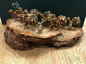 A Fantastic 20mm Scale Diorama Of A Camel Caravan Under Attack. c1000AD