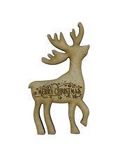 En bois Noël Renne Formes 9cm x10 découpées au laser bois formes découpes