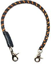 Biker tan black braided chain 2 tone leather Heavy Duty Trucker style wallets