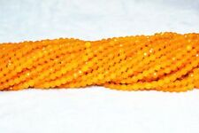 Brazil 4mm Faceted natural Orange yellow Topaz Gemstone Loose Beads 15'' JL41