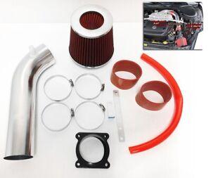 RED For 2003 2004 2005 2006 Infiniti G35 3.5L V6 Air Intake System Kit + Filter