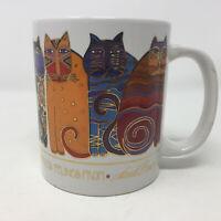 Laurel Burch Cat Coffee Mug FEMMES FATALES FELINES Ceramic Gold Detail 14 ounce