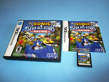 Sonic & Sega All-Stars Racing Nintendo DS Lite DSi XL 3DS 2DS w/Case & Manual
