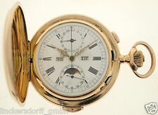 INVICTA  MINUTENREPETITION IN 14ct GOLD - VOLLKALENDER, MONDPHASE, CHRONOGRAPH,
