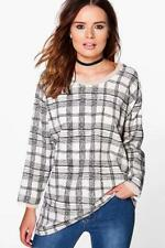 Checked Long Sleeve T-Shirts for Women