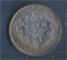 alemán Imperio añosägernr: 16 1918 años Flor di cuño Plata 1918 1/2 marc(7859365