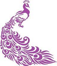 30 Custom Purple Fancy Peacock Personalized Address Labels