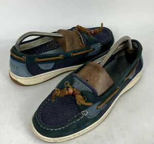 Sperry Top-Sider Womens Size 9.5M Blue 61428 Boat Shoes Lace