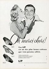 """""""LIP"""" Annonce originale entoilée R. KELLER (PLAISIR DE FRANCE 1955)"""