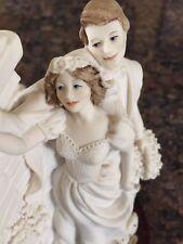Giuseppe Armani Signed Love In Bloom Wedding 1992 Figurine Sculpture Bride Groom
