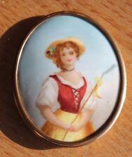 ancienne miniature sur porcelaine