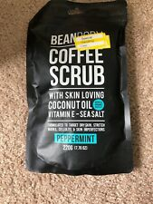 """BEAN BODY"" COFFEE SCRUB with COCONUT OIL, VIT. E - SEA SALT 'PEPPERMINT' 7.76oz"