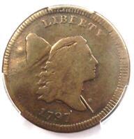 1797 Liberty Cap Flowing Hair Half Cent 1/2C - PCGS VG Detail - Rare Coin!