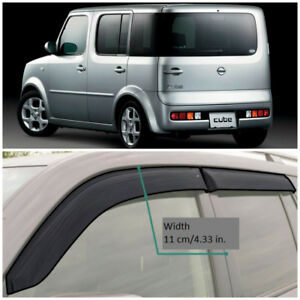 NE18202 Window Visors Vent Wide Deflectors For Nissan Cube II Z11 2002-2008