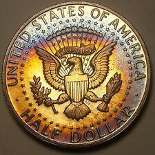 1968-S Kennedy Half Dollar Silver Proof Toned Unc Bu Gem Wonderful Color (Dr)