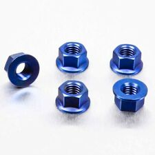 Pro-Bolt Titanium Sprocket Nut M8 x (1.25mm) Pack x 5 - Blue KTM 125 Duke 14-16
