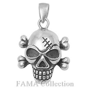 Top Quality FAMA 925 Sterling Silver Skull & Cross Bones Pendant