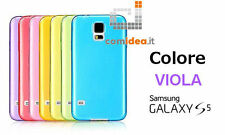 COVER CUSTODIA ULTRA SLIM PLASTICA 0.3mm SAMSUNG GALAXY S5 i9600 G900 VIOLA