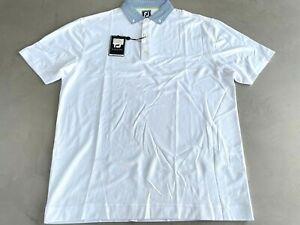 FootJoy Smooth Pique Polo XL White