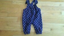Carter's baby girl's blue overalls with hearts size 3 months