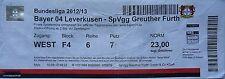 Ticket 2012/13 bayer 04 leverkusen-greuther fuerth