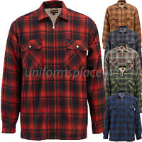 Wolverine Flannel Jacket Mens Plaid MARSHALL SHIRT Sherpa Fleece  Lined Jacket