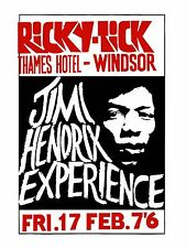 "Jimi Hendrix Windsor 16"" x 12"" Photo Repro Concert Poster"