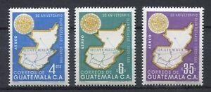 37295) GUATEMALA 1956 MNH** 50th anniv. of Rotary Intl. 3v  ...
