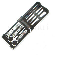 9 Pcs Set Nail Clippers Nipper Tools Cutter Stainless Steel as Gift