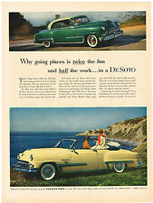Vintage 1953 Magazine Ad DeSoto Twice The Fun / Western Electric A New Look