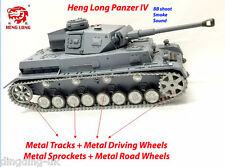 Radio Remote Control RC Tank Heng Long Panzer IV 1/16 BB Shoot Smoke Platinum