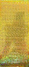 Diamond Sparkle ALPHABET Letters Peel Off Sticker Sheet Card Making Art & Craft