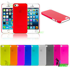 CUSTODIA CASE COVER PER APPLE IPHONE 5 5S ULTRA SLIM SOTTILE 0.3 MM TRASPARENTE
