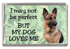 "German Shepherd Dog Fridge Magnet No.2. ""I may not be perfect ...."" by Starprint"