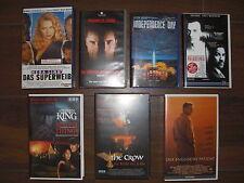 7x VHS Kassetten Sammlung Videos Spielfilme Horror Philadelphia Stephen King