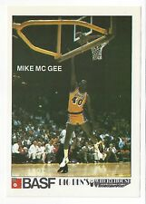 1982-83 BASF Lakers Promo Basketball card MIKE MC GEE NM