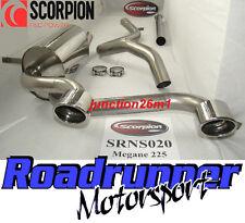 Scorpion Megane 225 Sport Système D'échappement en Acier Inoxydable Non Resonated (2008)