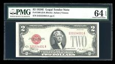DBR 1928-E $2 Legal Vinson Fr. 1506 DA Block PMG 64 EPQ Serial D35534031A