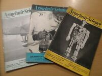Vintage 1939/1940 Lot of 3 x ARMCHAIR SCIENCE Magazines Wartime Interesting (8)
