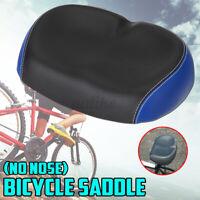 Soft Big Bum Bicycle Cycling Noseless Saddle Bike Wide Large PVC PU Pad Seat #