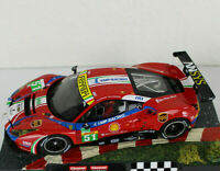 CARRERA 132 Auto Ferrari 488 GT3 No51 mit Licht !!!, aus 30848 ohne Decoder SALE