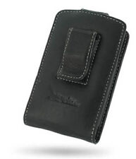 PDair Black Leather Vertical Pouch for BlackBerry 8800 Series