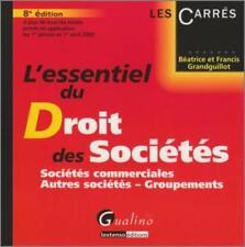 L'essentiel du droit des sociétés Grandguillot  Béatrice   Grandguillot  Francis