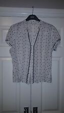 New Look Vintage Floral Shirt with Lace Trim - Size 16