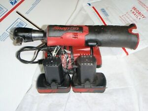 "Snap On CTB817 14.4v Cordless 3/8"" Drive Ratchet w 2 Batteries &1charger used"