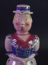 alte figürliche Likörflasche - Trachtenmädel München - Roesler Keramik 1920ies