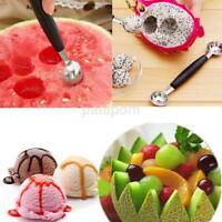 Stainless Steal Double Ended Melon Ball Scoop Fruit Spoon Ice Cream Scooper 30mm