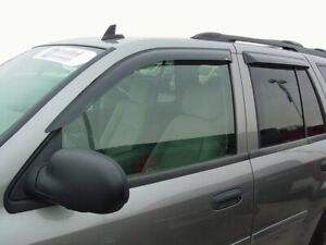 GMC Envoy 2002 - 2009 Tape-On Wind Deflector Vent Visor Shades 4pc
