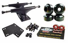 Owlsome 5.25 Black Skateboard Trucks + 52mm Wheels + ABEC 7 Bearings Combo
