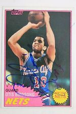 OTIS BIRDSONG Nets Houston 1981 Topps 17 Autographed NBPA Card 16E